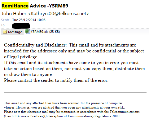 Fake Remittance Advice | System Force I T  Network Status Site